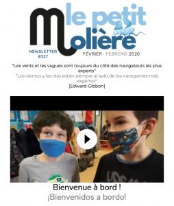 newsletter-lycee-moliere-zaragoza-febrero