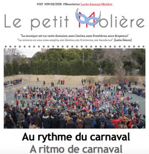 carnaval en el colegio Molière