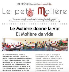 newsletter 170 del Molière de Zaragoza