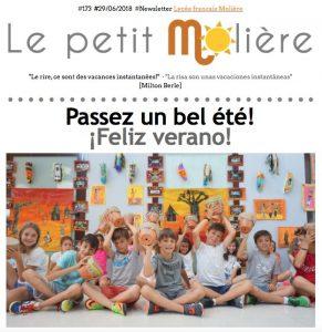 newsletter 173 del colegio Molière de Zaragoza