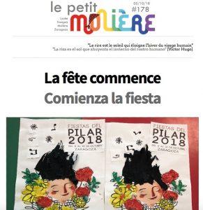 newsletter 178 colegio Molière de Zaragoza